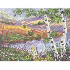 Набор для вышивания крестом Русский пейзаж, 31x24, Чудесная игла