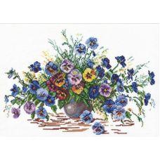 Набор для вышивания крестом Цветы лета, 38x28, Чудесная игла