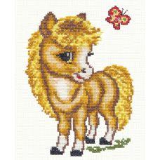 Набор для вышивания Веселая лошадка, 17,5х13,5, Чудесная игла