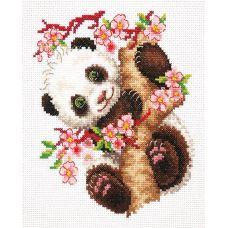 Набор для вышивания крестом Панда, 15x18, Чудесная игла