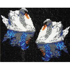 Набор для вышивания Лебеди, 17x22, Вышиваем бисером