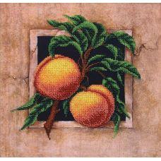 Набор для вышивания бисером Наш сад Персики, 29,5x29,5, Магия канвы