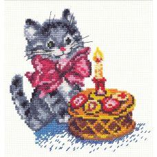 Набор для вышивания День рождения, 14х14, Чудесная игла