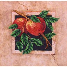 Набор для вышивания бисером Наш сад Яблоки, 29,5x29,5, Магия канвы