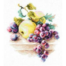 Набор для вышивания крестом Виноград и Яблоки, 16x18, Чудесная игла