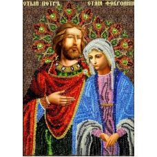 Набор для вышивания Святые Петр и Феврония, 19x27, Вышиваем бисером