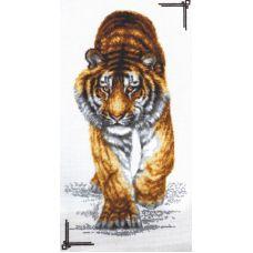 Набор для вышивания Поступь тигра, 25x47, Палитра
