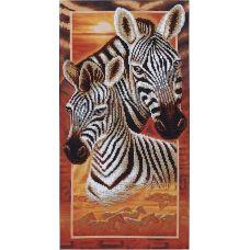 Набор для вышивания бисером Африка: Зебры, 22x46, Магия канвы