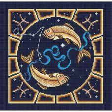 Набор для вышивания бисером Рыбы, 20x20, МП-Студия