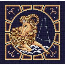 Набор для вышивания бисером Овен, 20x20, МП-Студия