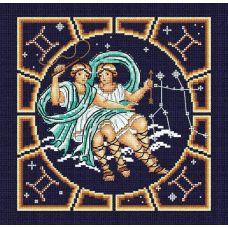Набор для вышивания бисером Близнецы, 20x20, МП-Студия
