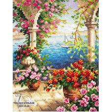 Набор для вышивания крестом Цветочный бриз, 15x20, Чудесная игла