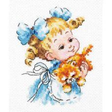 Набор для вышивания крестом Ты мой маленький!, 10x13, Чудесная игла