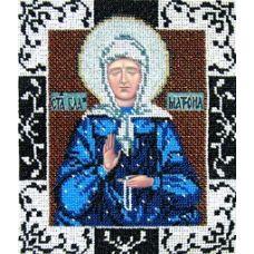 Набор для вышивания Святая Матрона Московская, 17x20, Вышиваем бисером