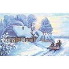 Набор для вышивания крестом Мороз и солнце, 40x27, Чудесная игла