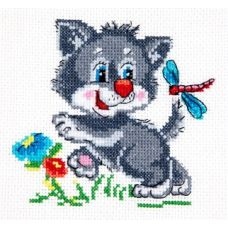 Набор для вышивания Серенький волчек, 12х11, Чудесная игла