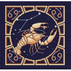 Набор для вышивания бисером Рак, 20x20, МП-Студия