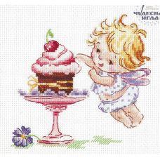 Набор для вышивания крестом Люблю сладенькое, 13x12, Чудесная игла