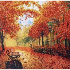 Набор для вышивания бисером Осенний парк, 39x40, Магия канвы