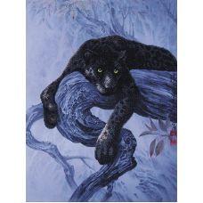 Набор для вышивания бисером Багира, 39x51, Магия канвы