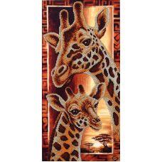 Набор для вышивания бисером Африка: Жирафы, 22x46, Магия канвы