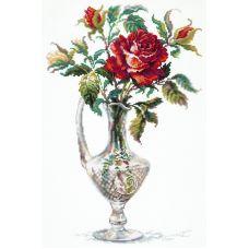 Набор для вышивания крестом Красная Роза, 26x40, Чудесная игла