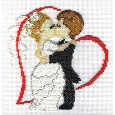 Набор для вышивания бисером Молодожены, 15x15, МП-Студия