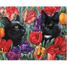 Живопись по номерам Среди тюльпанов, 40x50, Белоснежка