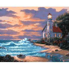 Живопись по номерам Дом с маяком, 40x50, Белоснежка