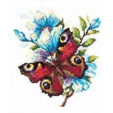 Набор для вышивания крестом Павлиний глаз, 17x17, Чудесная игла