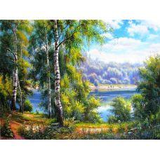 Картина по номерам Березки у реки, 40x50, Paintboy, GX22915