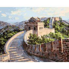 Живопись по номерам Великая китайская стена, 40x50, Белоснежка