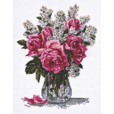 Набор для вышивания Розовый букет, 25x33, Палитра