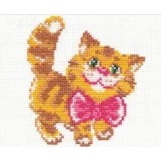 Набор для вышивания Котик, 12х10, Чудесная игла