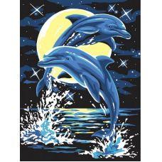 Живопись по номерам Дельфины, 30x40, Белоснежка