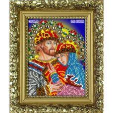 Набор для вышивания с рамкой Святые Петр и Феврония, 9,5x12,5, Вышиваем бисером
