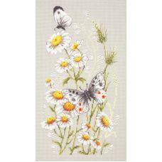 Набор для вышивания крестом На ромашковой поляне, 18x31, Чудесная игла