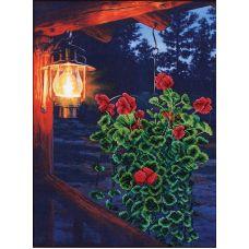 Набор для вышивания бисером Огонек в ночи, 31x41,5, Магия канвы
