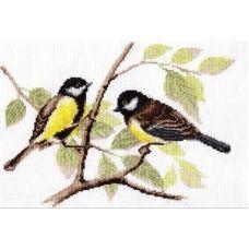 Набор для вышивания Синички, 28x20, Палитра