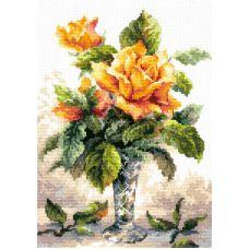 Набор для вышивания крестом Желтые розы, 20x27, Чудесная игла