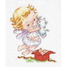Набор для вышивания крестом Люблю подарочки!, 10x13, Чудесная игла