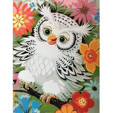 Живопись по номерам Белый совенок, 40x50, Paintboy, GX3045