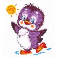 Набор для вышивания Крошка пингвинёнок, 11х12, Чудесная игла