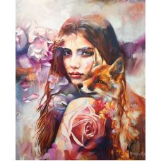Живопись на холсте Лисички, 40x50, Paintboy, GX4976