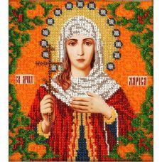 Набор для вышивания Святая Лариса, 19x21, Вышиваем бисером