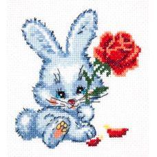 Набор для вышивания Зайчишка, 11х12, Чудесная игла