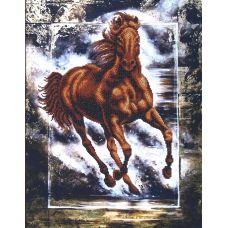 Набор для вышивания бисером Победный конь, 35x44,5, Магия канвы