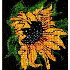 Набор для вышивания Подсолнух, 19x22, Вышиваем бисером