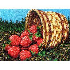 Набор для вышивания Клубничка, 19x26, Вышиваем бисером