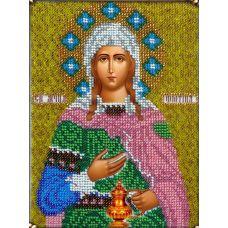 Набор для вышивания Святая Светлана, 14x19, Вышиваем бисером
